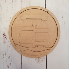 3mm mdf Signpost Layered Circle Christmas Baubles