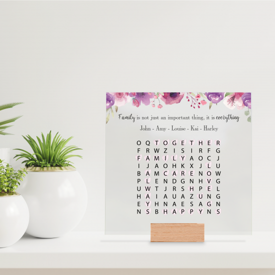 Printed IKEA Ribba or Sannahed Replacement Front Acrylic - Word Search 2021 Design 1 Mother's Day