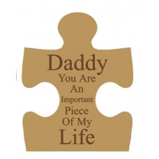 18mm Jigsaw Engraved (Daddy You Are An Important Piece Of My Life)(choose from options) Fathers Day