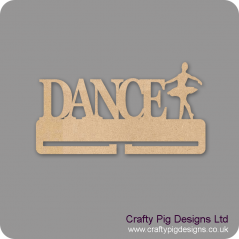 4mm MDF Dance Medal Holder With 1 Dancer Medal Holder / Hanger