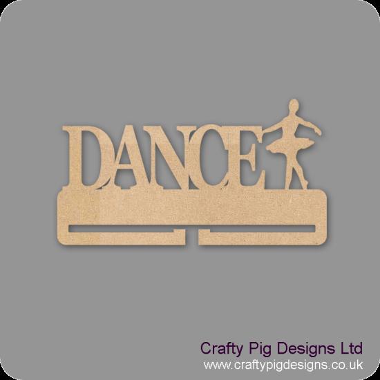4mm MDF Dance Medal Holder With 1 Dancer