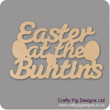 3mm MDF Easter At The (with eggs) - Surname Easter