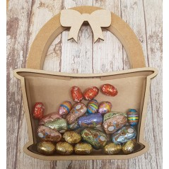 18mm Layered Easter Basket Chocolate Egg Drop Box Easter