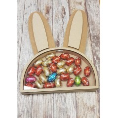 18mm Layered Easter Bunny Head Chocolate Egg Drop Box Easter