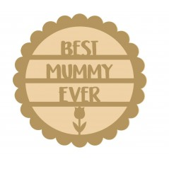 18mm Layered Fillable Scalloped Circle - Best Mum/Mummy  Mother's Day