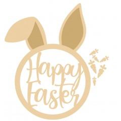 3mm Happy Easter Bunny Head