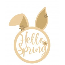 3mm Hello Spring Bunny Head  Easter