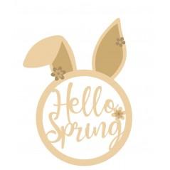 3mm Hello Spring Bunny Head