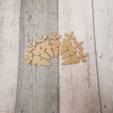 3mm MDF NEW CARROT SHAPE (pack of 10) Easter