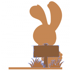 4mm OAK VENEER Bunny Scene