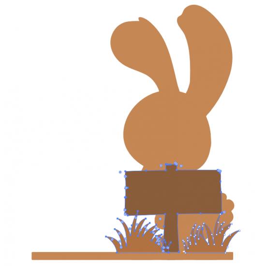 4mm OAK VENEER Bunny Scene Easter