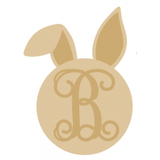 3mm Monogram Bunny Head (separate letter) Easter