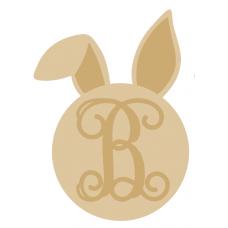 3mm Monogram Bunny Head (separate letter) Easter