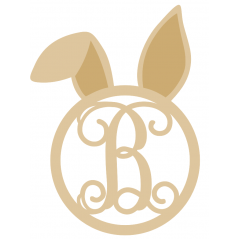 3mm Monogram Bunny Head (welded letter) Easter