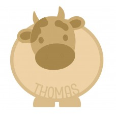 18mm Layered Fillable Cow with name Shape Easter