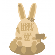3mm mdf Easter Bunny Egg on Stand with Layering Kit Easter