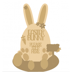 3mm mdf Easter Bunny Egg on Stand with Layering Kit