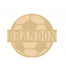 18mm Layered Fillable Football with name Shape Easter