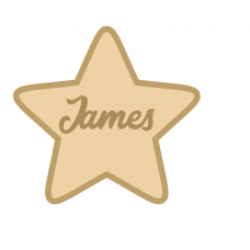 18mm Layered Fillable Star Shape with name Easter