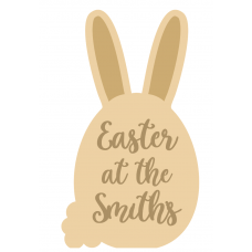 3mm Layered Tall Ear Easter At Sign Easter