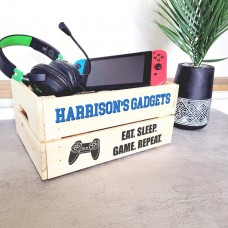 Printed Pale Crate - Gadgets Blue - Playstation Personalised and Bespoke