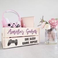 Printed Crate - Gadgets Pink