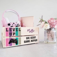Printed Crate - Level Up - Pink Personalised and Bespoke