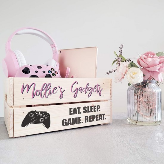 Printed Crate - Gadgets Pink Personalised and Bespoke