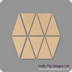 3mm MDF 100 mini bunting triangles (2.5cm x 2cm) Bunting