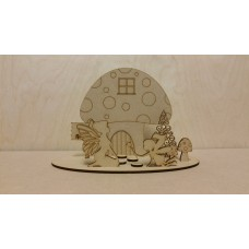 3mm MDF Fairy Scene Style 2 (with 2 fairies) Fairy Doors and Fairy Shapes