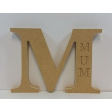 18mm Freestanding Letter N With Nanny Engraving Mother's Day