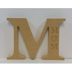 18mm Freestanding Letter M With MOM Engraving Mother's Day