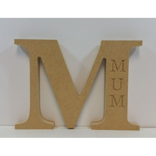 18mm Freestanding Letter N With Nan Engraving Mother's Day