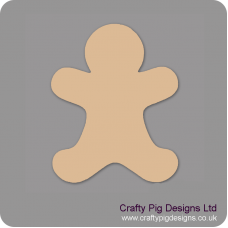 3mm MDF Gingerbread Man shape no detail (Pack of 5) Christmas Shapes