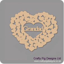 3mm MDF Grandad heart of hearts Hearts With Words