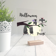 Printed Ribba Replacement Front Acrylic - Bats Design Halloween