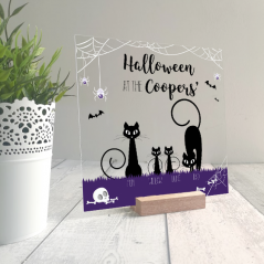 Printed IKEA Ribba or Sannahed Replacement Front Acrylic - Black Cats Design Halloween