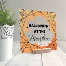 Printed IKEA Ribba or Sannahed Replacement Front Acrylic - Cobwebs Design Halloween