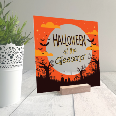 Printed IKEA Ribba or Sannahed Replacement Front Acrylic - Orange Sky Design Halloween