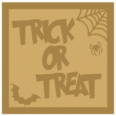 3mm Layered Hanging Trick or Treat sign Halloween