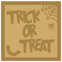18mm Layered Trick or Treat sign