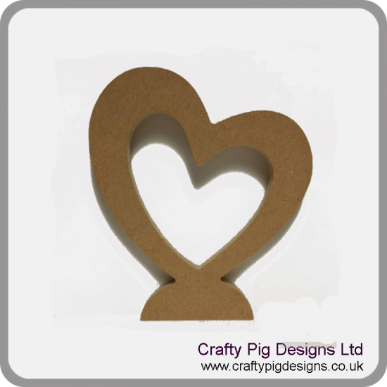 18mm Hollow Heart 18mm MDF Craft Shapes