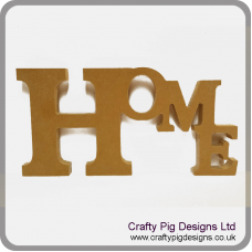18mm Freestanding Tumbling Letters - Home