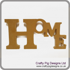 18mm Freestanding Tumbling Letters - Home 18mm MDF Signs & Quotes