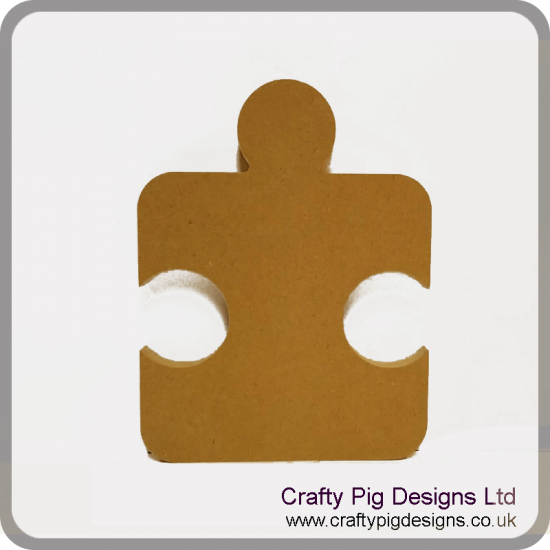 18mm Single Jigsaw Piece Rounded Edge (200mm) 18mm MDF Craft Shapes