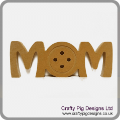 18mm Freestanding Mom With Button Shape Mother's Day