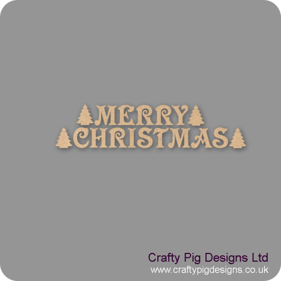 3mm MDF MERRY CHRISTMAS Bunting Christmas Shapes