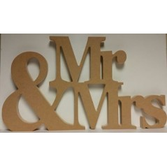 18mm Mr&Mrs Wedding Sign (30cm high) 18mm MDF Signs & Quotes