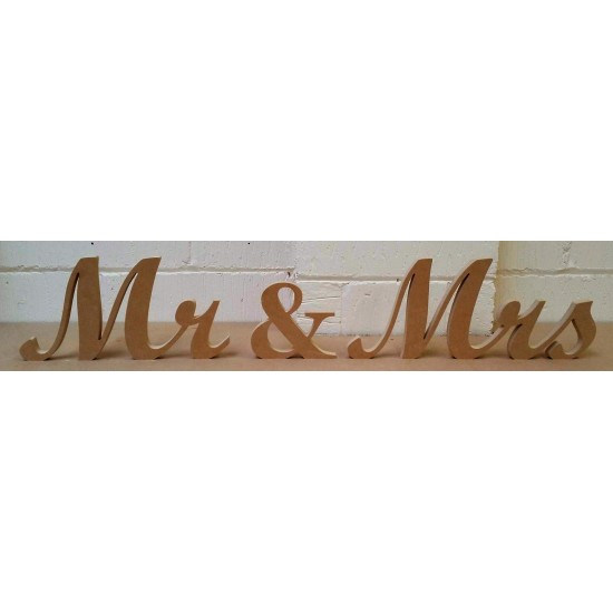18mm Mr & Mrs Wedding Sign (Script Font)(20cm high) 18mm MDF Signs & Quotes