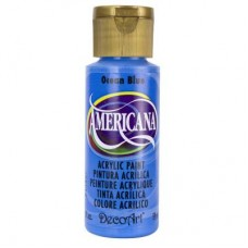 Decoart Americana Acrylic Paint -  Ocean Blue 2oz Decoart Americana Acrylic Paints